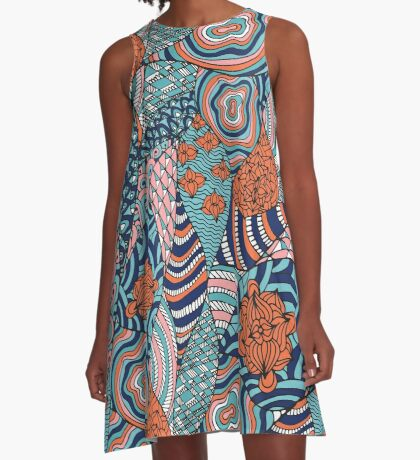 hippie psychedelic print A-Line Dress