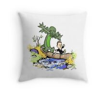 H.P. and Cthulhu Throw Pillow