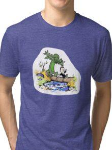 H.P. and Cthulhu Tri-blend T-Shirt
