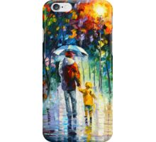 RAINY WALK WITH DADDY - Leonid Afremov iPhone Case/Skin