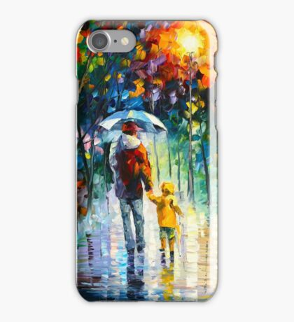 RAINY WALK WITH DADDY - Leonid Afremov iPhone Case/Skin