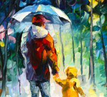 RAINY WALK WITH DADDY - Leonid Afremov Sticker