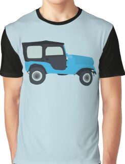 Stiles Stilinski Jeep CJ5 1976, Roscoe / Teen Wolf Graphic T-Shirt