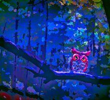 All Hallows Owl by Wib Dawson