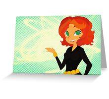 Black Widow v2 Greeting Card