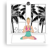 Yoga Girl Canvas Print