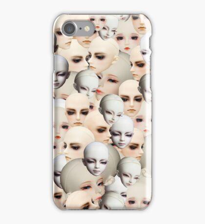 Dollfie Doll Heads Collage iPhone Case/Skin