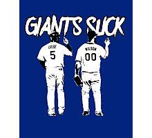 Giants Suck! Photographic Print