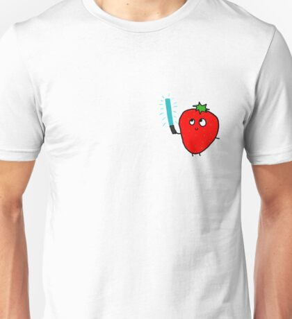 Strawberry and the lightsaber Unisex T-Shirt