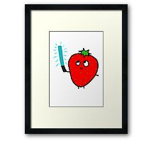 Strawberry and the lightsaber Framed Print