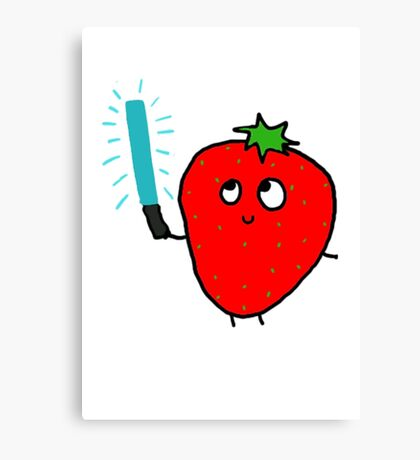 Strawberry and the lightsaber Canvas Print