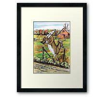 Deer Leaving Framed Print
