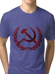 Communist Party Symbol 2  Tri-blend T-Shirt