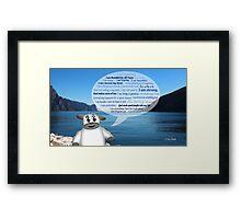 Christian Positive Affirmations for Kids Framed Print