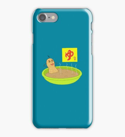 Onsen Peanut, but it looks like gnocchi iPhone Case/Skin