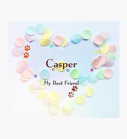 Casper - my best friend Photographic Print