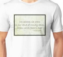 Cloudy Sky Star haiku Poster Unisex T-Shirt