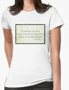 Cloudy Sky Star haiku Poster Womens Fitted T-Shirt