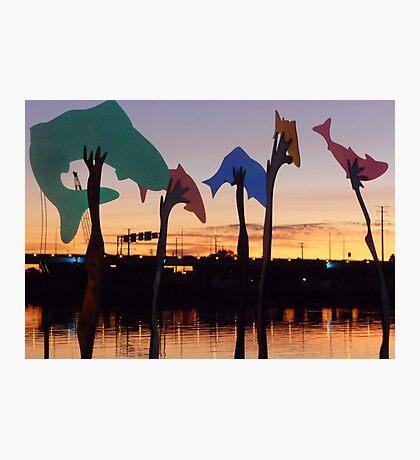 Sunset Art on the Fox River Photographic Print