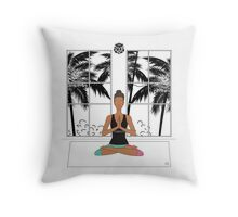 Yoga Girl. Throw Pillow