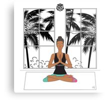 Yoga Girl. Metal Print