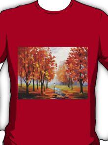 PINK FOG - Leonid Afremov T-Shirt