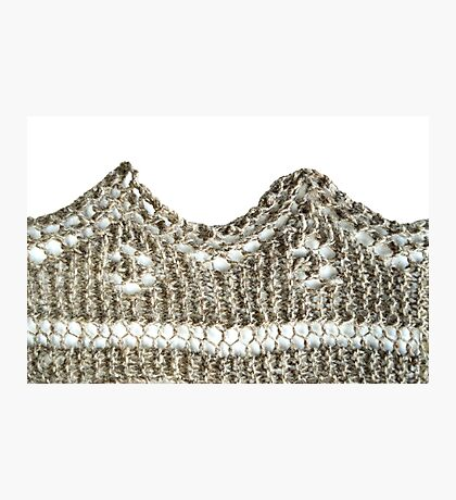 Knitted shawl edging Photographic Print