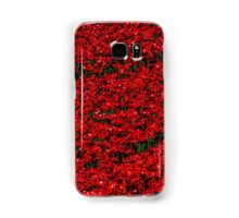 Poppy fields of remembrance for WW1 at Tower of London Samsung Galaxy Case/Skin