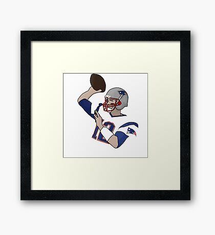 Tom Brady Illustration Framed Print