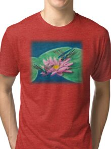 Dragonflies On Water Lily Tri-blend T-Shirt