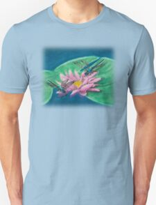 Dragonflies On Water Lily T-Shirt