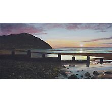 Penmaenmawr sunset Oil on Canvas Photographic Print