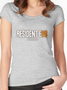 Resident Evil 7 Launch Logo  Women's Fitted Scoop T-Shirt