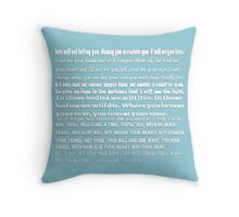 mumford&sons quotes Throw Pillow