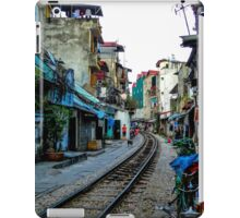 Railway tracks through Hanoi, Vietnam iPad Case/Skin