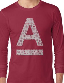 House Music Abstract Graphic Design Art Long Sleeve T-Shirt