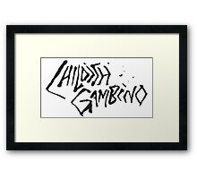 Childish Gambino but the other colour Framed Print