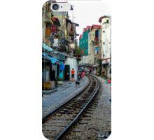Railway tracks through Hanoi, Vietnam - square photo iPhone Case/Skin