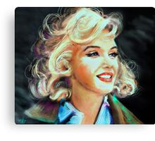 Marilyn Blue Canvas Print