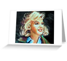 Marilyn Blue Greeting Card