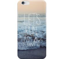 Let's Run Away x Arcadia Beach iPhone Case/Skin