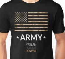 WillPower US Flag Army Camouflage Pride Honor Power Unisex T-Shirt