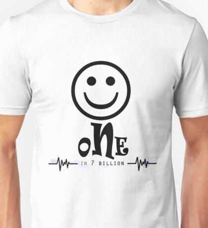 One in 7 Billion by Crazydodo Unisex T-Shirt