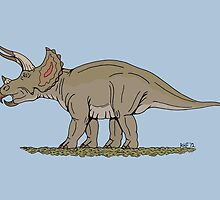 Triceratops by Richard Fay