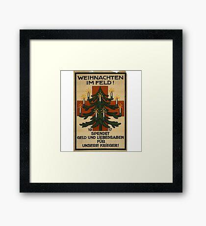 German WWI Christmas Poster Framed Print