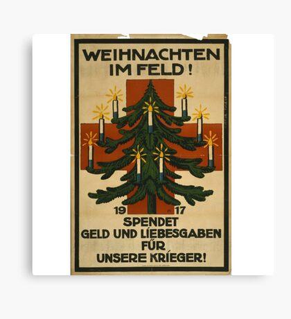 German WWI Christmas Poster Canvas Print