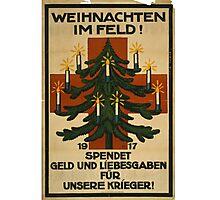 German WWI Christmas Poster Photographic Print
