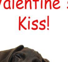 Glossy Grizzly Special Valentine's Kiss Sticker