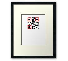 QR Code - Never Give Up Framed Print