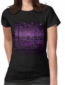 Purple Infinity Womens Fitted T-Shirt